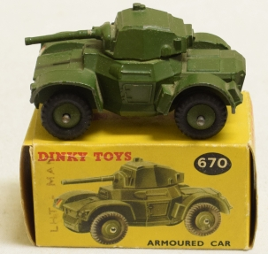 Dinky DINKY 670 ARMOURED CAR, EXCELLENT MODEL W/ VG+ BOX!
