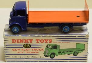 Dinky DINKY 913 GUY FLAT TRUCK WITH TAILBOARD, NEAR-MINT MODEL W/ VG BOX!