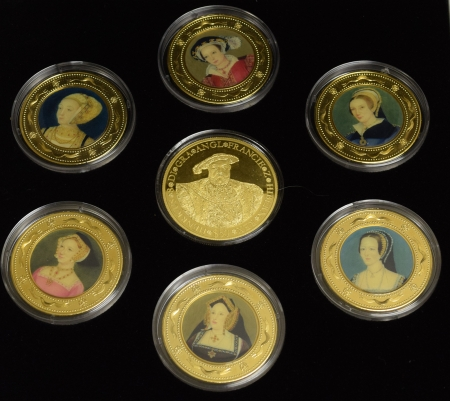 New Certified Coins 2006 COOK ISLANDS WIVES OF HENRY VIII 7 COIN SET $50 1 OZ .999 GOLD PROOF & MORE