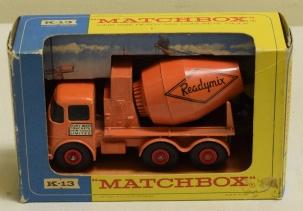 Matchbox MATCHBOX K-13 CONCRETE TRUCK, EXCELLENT MODEL W/ VG BOX (MISSING PERSPEX)!