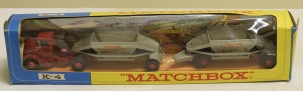 Matchbox MATCHBOX K-4 FRUEHAUF HOPPER TRAIN, EXCELLENT MODEL W/ EXCELLENT BOX!