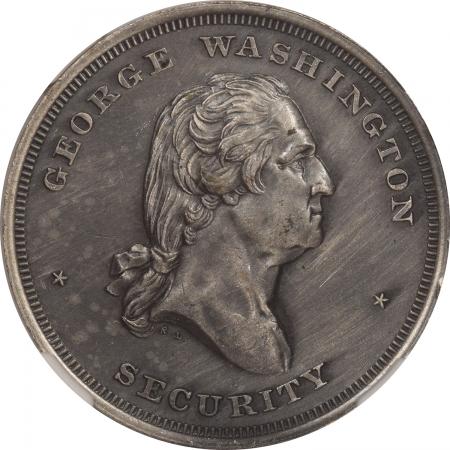 Civil War & Hard Times UNDATED (1861-1865) CIVIL WAR DOG TAG, WASHINGTON-SECURITY B-621 32MM-NGC MS-63