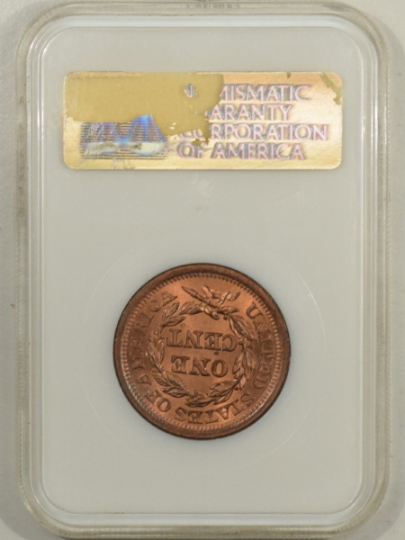 New Certified Coins 1852 CORONET LARGE CENT – NGC MS-65 RB, FATTY HOLDER! FRESH & PQ!