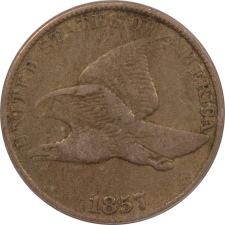 New Certified Coins 1857 FLYING EAGLE CENT – ICG F-15