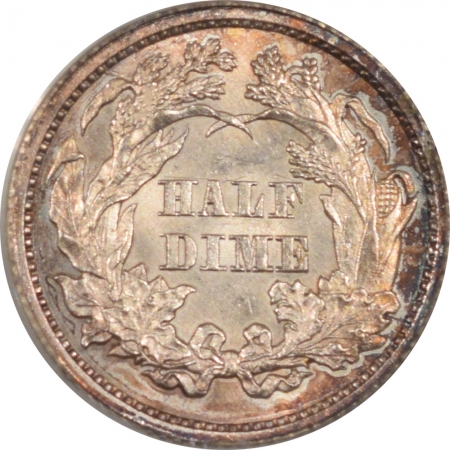New Certified Coins 1862 SEATED LIBERTY HALF DIME – PCGS MS-62, PREMIUM QUALITY! OGH!