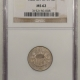 New Certified Coins 1866 SHIELD NICKEL, RAYS – PCGS XF-40