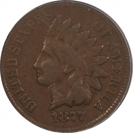 New Certified Coins 1877 INDIAN CENT – PCGS VG-10 OLD GREEN HOLDER LOOKS FINE!
