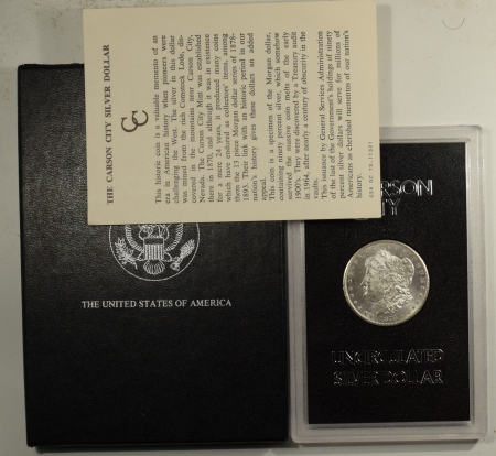 New Certified Coins 1878-CC MORGAN DOLLAR GSA WITH BOX AND CARD – BU