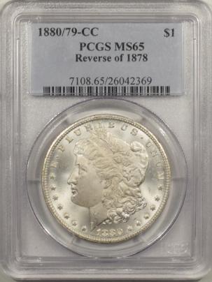 Morgan Dollars 1880/79-CC MORGAN DOLLAR – REV OF 1878 – PCGS MS-65 BLAST WHITE GEM!