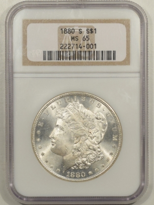 Morgan Dollars 1880-S MORGAN DOLLAR – NGC MS-65 BLAST WHITE!