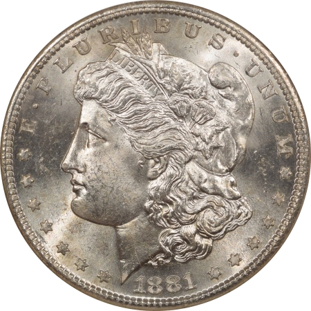 Morgan Dollars 1881-S MORGAN DOLLAR – NGC MS-65, BLAST WHITE!