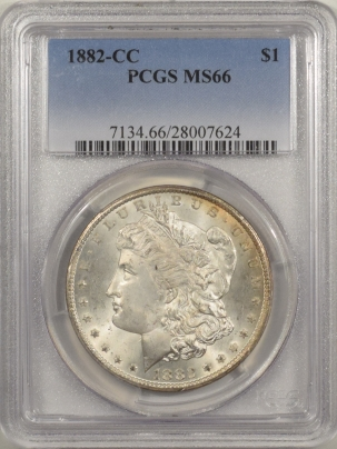 New Certified Coins 1882-CC MORGAN DOLLAR – PCGS MS-66, PRETTY!