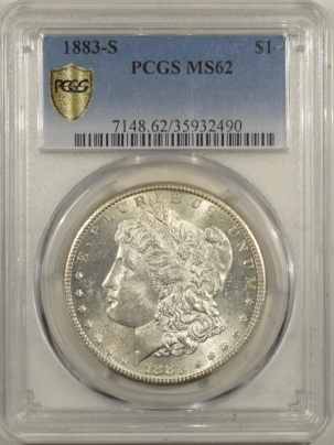 Morgan Dollars 1883-S MORGAN DOLLAR – PCGS MS-62