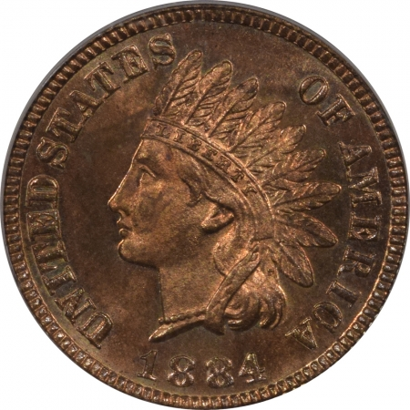 New Certified Coins 1884 PROOF INDIAN CENT – PCGS PR-65RB, CAC APPROVED!