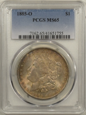 New Certified Coins 1885-O MORGAN DOLLAR – PCGS MS-65