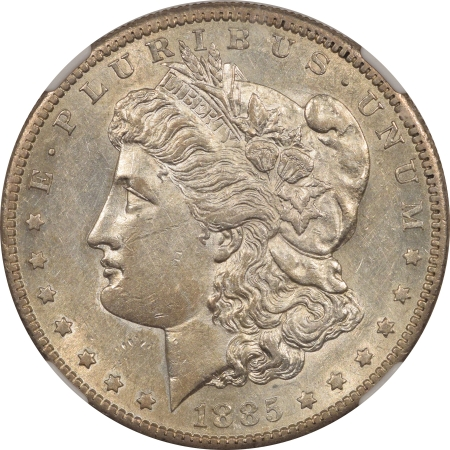 New Certified Coins 1885-S MORGAN DOLLAR – NGC AU-50