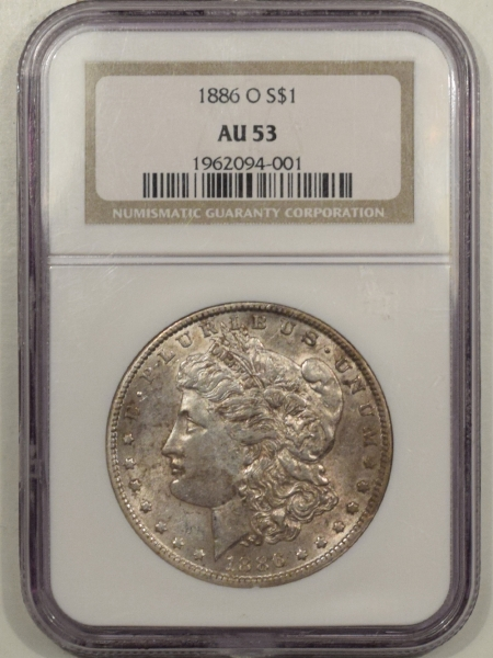 New Certified Coins 1886-O MORGAN DOLLAR – NGC AU-53