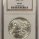 New Certified Coins 1885-CC MORGAN DOLLAR – PCGS MS-66, WHITE & SUPERB!