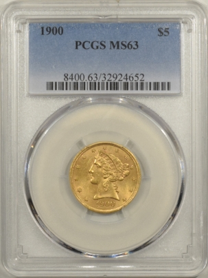 $5 1900 $5 LIBERTY GOLD – PCGS MS-63, CHOICE!
