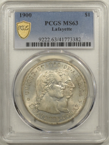New Certified Coins 1900 LAFAYETTE COMMEMORATIVE SILVER DOLLAR – PCGS MS-63