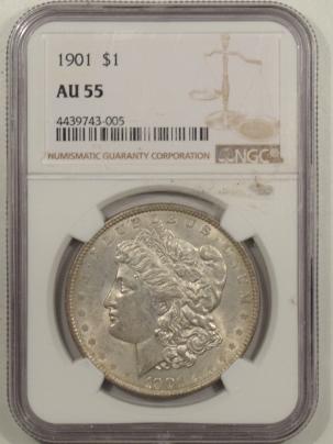 Morgan Dollars 1901 MORGAN DOLLAR – NGC AU-55