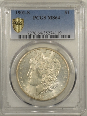 Morgan Dollars 1901-S MORGAN DOLLAR – PCGS MS-64