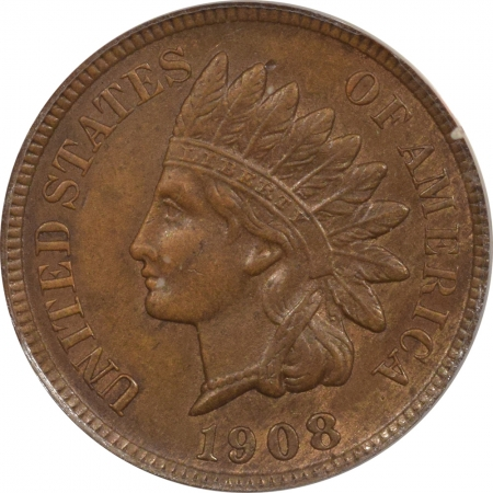 New Certified Coins 1908-S INDIAN CENT – ANACS AU-55