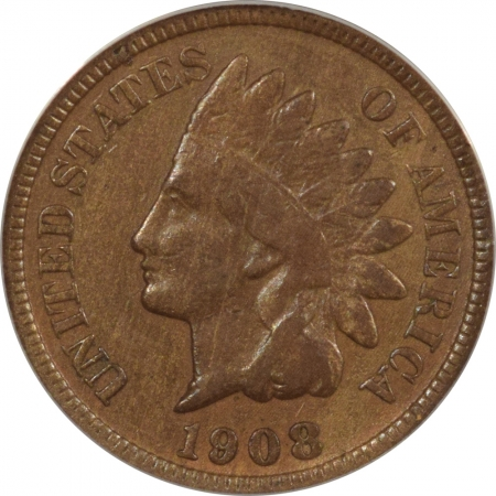 New Certified Coins 1908-S INDIAN CENT – ANACS F-12