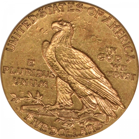 New Certified Coins 1909-D $5 INDIAN HEAD GOLD – ANACS AU-55