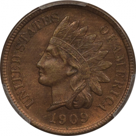New Certified Coins 1909-S INDIAN CENT – PCGS MS-64 BN, SMOOTH NEAR GEM!