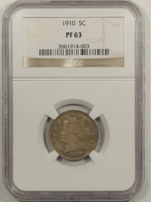 Liberty Nickels 1910 PROOF LIBERTY NICKEL – NGC PR-63