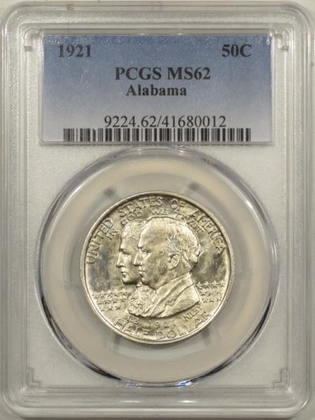 U.S. Certified Coins 1921 ALABAMA COMMEMORATIVE HALF DOLLAR PCGS MS-62, FLASHY & PQ!
