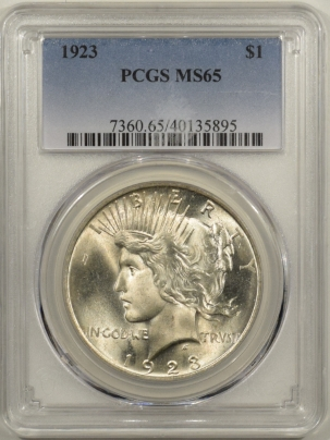 New Certified Coins 1923 PEACE DOLLAR – PCGS MS-65 CRISP WHITE!