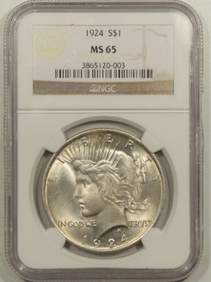 New Certified Coins 1924 PEACE DOLLAR – NGC MS-65