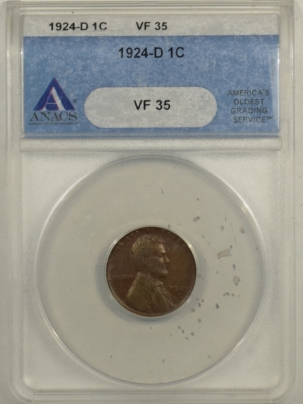 Lincoln Cents (Wheat) 1924-D LINCOLN CENT – ANACS VF-35