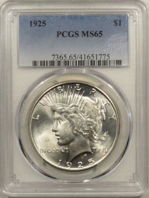 New Certified Coins 1925 PEACE DOLLAR – PCGS MS-65 BLAST WHITE!