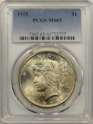 New Certified Coins 1925 PEACE DOLLAR – PCGS MS-65