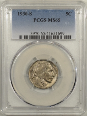 New Certified Coins 1930-S BUFFALO NICKEL – PCGS MS-65