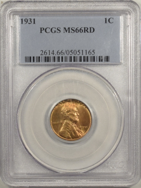 New Certified Coins 1931 LINCOLN CENT – PCGS MS-66RD