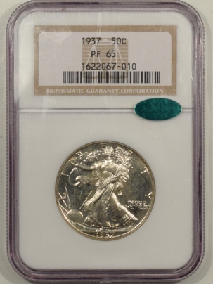 CAC Approved Coins 1937 PROOF WALKING LIBERTY HALF DOLLAR – NGC PF-65, CAC APPROVED! FRESH!