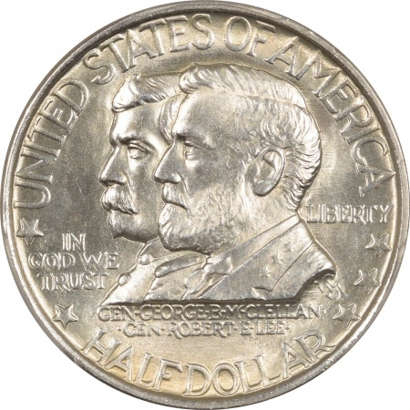 New Certified Coins 1937 ANTIETAM COMMEMORATIVE HALF DOLLAR – PCGS MS-64 MARK FREE AND WHITE!