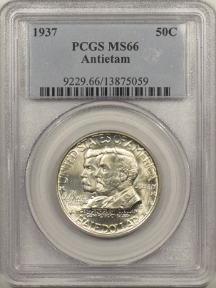 New Certified Coins 1937 ANTIETAM COMEMMORATIVE HALF DOLLAR – PCGS MS-66