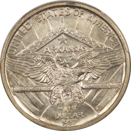 New Certified Coins 1937-S ARKANSAS COMMEMORATIVE HALF DOLLAR PCGS MS-65, FLASHY GEM