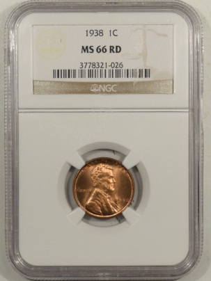 Lincoln Cents (Wheat) 1938 LINCOLN CENT – NGC MS-66 RD