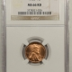 Lincoln Cents (Memorial) 1970-S LINCOLN CENT, SMALL DATE – PCGS MS-66 RD
