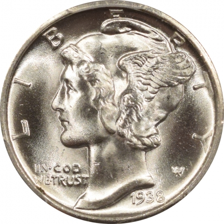 New Certified Coins 1938-D MERCURY DIME – PCGS MS-66+ FB BLAST WHITE!