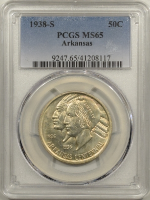 New Certified Coins 1938-S ARKANSAS COMMEMORATIVE HALF DOLLAR – PCGS MS-65