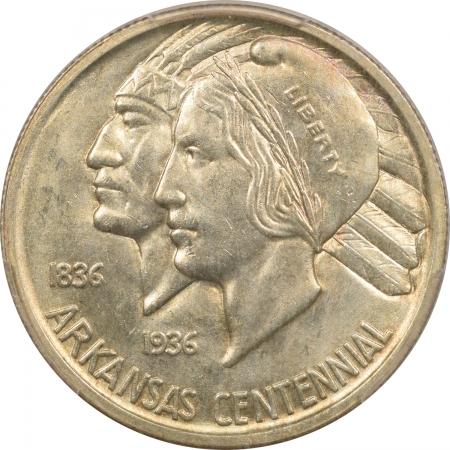 New Certified Coins 1938-S ARKANSAS COMMEMORATIVE HALF DOLLAR – PCGS MS-65