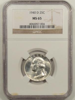 New Certified Coins 1940-D WASHINGTON QUARTER – NGC MS-65 BLAST WHITE!