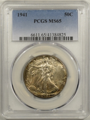 New Certified Coins 1941 WALKING LIBERTY HALF DOLLAR – PCGS MS-65 FRESH GEM!
